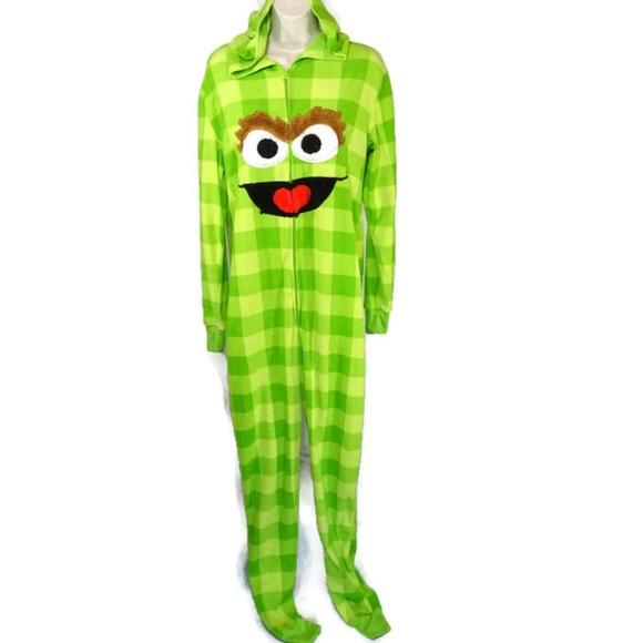 Sesame Street Oscar The Grouch Hooded One Piece